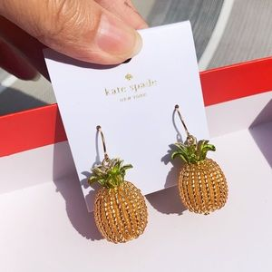 NWT Authentic Kate Spade ♠️ Pineapple Earings